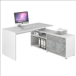 Maja Maximus Icy White and Stone Grey Corner Desk