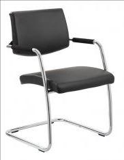 Dynamic Havanna Leather Meeting Chair