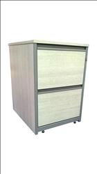 Two Drawer Grey Ash Filing Cabinet